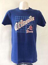 Vtg 80s Champion Brand Atlanta Braves T-Shirt Blue M Soft Thin 50/50 MLB