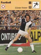 FOOTBALL carte joueur fiche photo GUNTER NETZER (ALLEMAGNE)