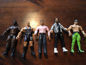 WWE Jakks Pacific Action Figure Lot of 5 Vintage (Lot B)