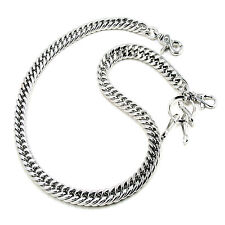 "Basic Strong Leash Heavy Biker Trucker Key Jean Wallet Chain (31"") Silver CS11"