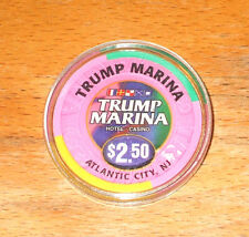 $2.50 Trump Marina Casino Chip - 1997 - Atlantic City, New Jersey