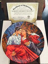 "Gone With The Wind Plate Collection ""Scarlet And Rhett:The Finale"" W/Box & Coa"