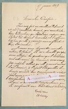 ♦ L.A.S 1869 Charles LUCAS criminaliste né Saint Brieuc (cf peine mort) lettre