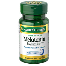 Nature's Bounty Melatonin 3 mg, Quick Dissolve Tablets, 120 Count