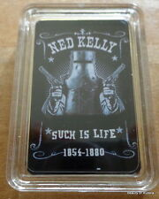 Ned Kelly Australia Such Is Life 29.6ml Ml .gold Bañado Barra Moneda 2
