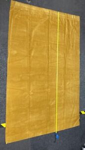 (BOT) Vintage Gold Velour Retro Curtains (2)