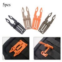 5pcs backpack carabiner buckle clip strap edc molle webbing connecting buckle wr
