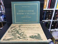 STORIE E COSTUMI DI ROMA E DEL LAZIO - volume con 70 Tavole - con cofanetto