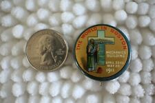 American Missionary Exposition 1911 World Boston Christian Cross Pinback Button