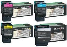 20 EMPTY Genuine Virgin Lexmark C540 C544 Black and Color EMPTY Toner Cartridges