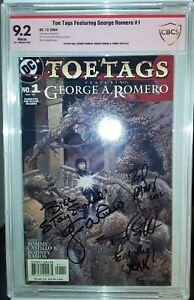 TOE TAGS #1  - CBCS VSP 9.2 - Signed by George Romero, Tommy Castillo, R. Ramos
