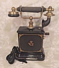 Antique French Phone Elegant Base and Handset Not Working Great Stenciling