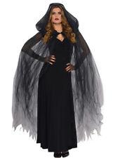 Halloween Gothic Black Tulle Net Sheer Cape