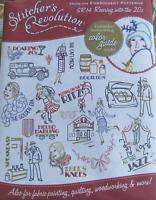 Stitcher's Revolution ROARING INTO THE 20s Era Embroidery Transfer Pattern SR14