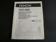Original Bedienungsanleitung Denon DVD-800