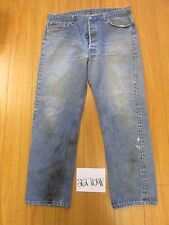 used Levi 501 USA feathered jean tag 42x34 Meas 37x30.5 22704F