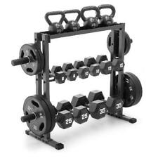 Olympic Dumbbell Rack Gym Plates Stand Fitness Equipment Weight Lifting Storage