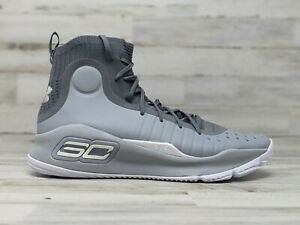 Under Armour Mens Curry 4 Overcast Gray 1298306 107 Steph Warriors Size Mens 10