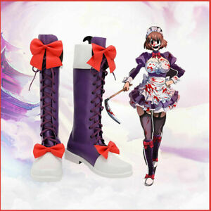 Anime High-Rise Invasion Maid fuku Kamen Cosplay Shoes Boots Custom Made Prop