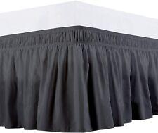 Branded Collection Wrap Around Bed Skirt Three Side fiber Extra Size(Dark Grey )