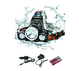 Lampada luce Frontale Testa Super 6000Lumen Ricaricabile Pesca Surf  PPG