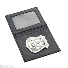 Smiffys Police Officer Leather Wallet ID & Badge SPECIAL POLICE