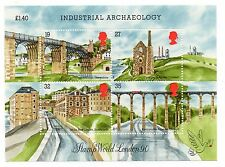 GB 1989 Industrial Archaeology unmounted mini / miniature sheet MNH m/s stamps