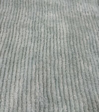Vtg Blue Green Chenille ribbed Cotton Fabric Craft Quilt1yd. 54� Wide