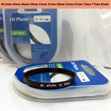 40.5mm~82mm Slim UV Filter protector For Olympus Nikon Canon Sony Camera Lens