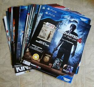 """RARE PROMO Video Game Store Display Advertisement Posters 22"""" x 25"""""""