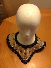 Adult Egyptian Gold Collar Black Trim Sequin Nile Cleopatra Queen Costume Movie