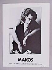 Christopher Makos Art Gallery Exhibit PRINT AD - 1981