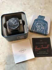 Used Fossil Mens PR5409 10ATM Watch With Tin Free Shipping