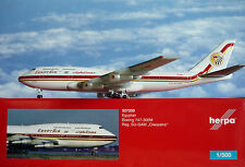HERPA wings 1:500 Boeing 747-300m EgyptAir su-GAM cleopratra 527200
