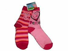 Peppa Pig Two Pairs Children Girls Pink Ankle Socks UK Size 6-8.5