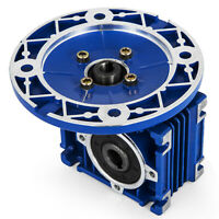 NMRV030 Series Worm Gear 15:1 63c Speed Reducer Durable Smooth Cast Aluminum