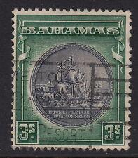 BAHAMAS: 1931 3/- slate-purple & myrtle-green    SG132 used