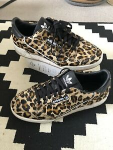 Leopard Print Adidas Stan Smith trainers UK 7
