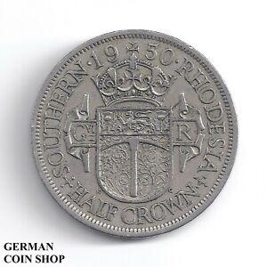 Half Crown 1950 Southern Rhodesia Zimbabwe -