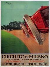 Sport Motor Monza Milán, Italia Racing Poster Vintage Art Print 12x16 pulgadas 908PY