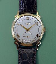 Vintage 1950's Solid 14k Gold  Fancy Case LONGINES Men's Dress Watch