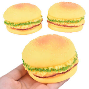 1PC Pet Dog Play Squeeze Squeaky Quack Sound Chew Toy Burger Style Pet MolaCACA