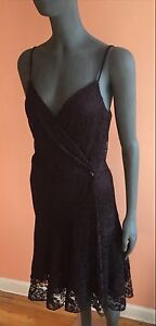 Ralph Lauren RRL Burgundy Lace Wrap With Crystal Dress NWT$895 ~ 1/ Small