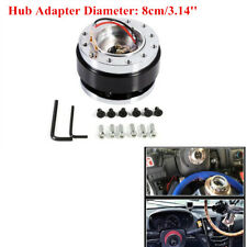 Auto Car 6-Hole Steering Wheel Quick Release HUB Adapter Snap Off Boss Kit Black
