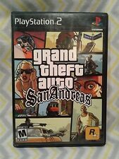 Grand Theft Auto San Andreas *Black Label* GTA Playstation 2 PS2 Complete w Map!