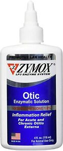Zymox Ear Cleanser for Dogs and Cats 1% Hydrocortisone 4oz. bottle