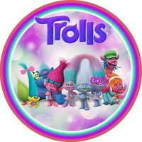 Trolls 7 Inch Edible Image Cake & Cupcake Toppers/ Birthday /Party