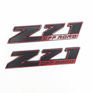 New 2 x Z71 OFF ROAD Red & Black Emblem Badge Chevy GMC Silverado Sierra HD