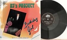 Maxi-Single: DJ's Project‎–Birthday Girl RARE GER 1986 Electronic/ Synth.-Pop