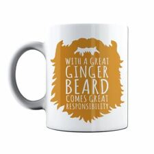 With A Great Ginger Beard Come Great Responsibility Funny Coffee Tea Cup Mug